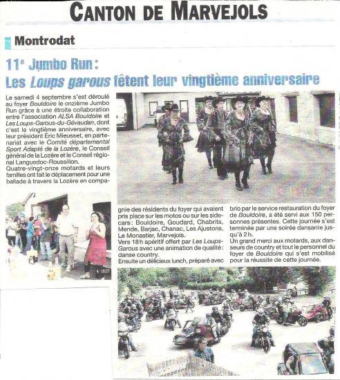 Jumbo Run  de Lozère 2010